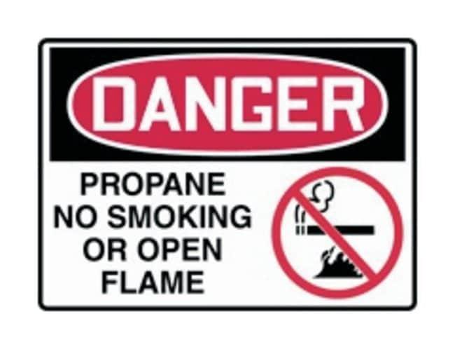Accuform Signs Chemical Hazards Safety Signs: Danger: Propane Legend: Danger