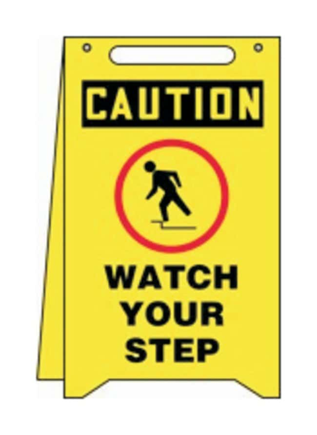 Accuform Signs Caution Watch Your Step Foldup Sign Size (H x W): 50.8 x