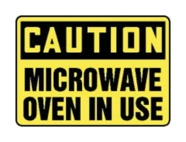 Accuform Signs Caution: Microwave Oven in Use Sign Legend: CAUTION MICROWAVE