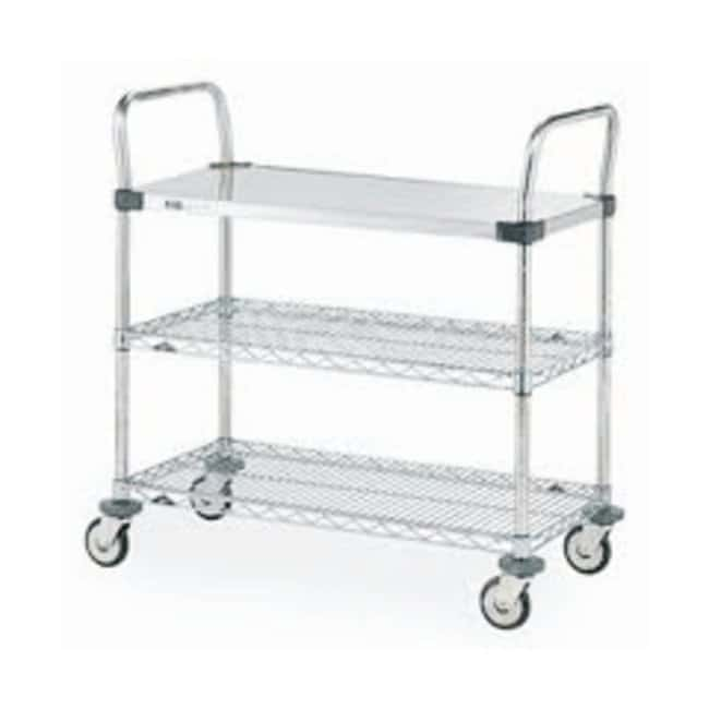 metro mw series utility cart with solid and wire shelves biopharmaceutical