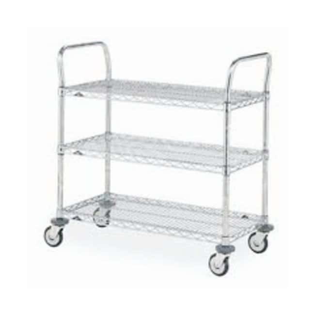 Metro Mw Series Utility Cart With Wire Shelves Shelves Wire 3 Shelf Material Stainless