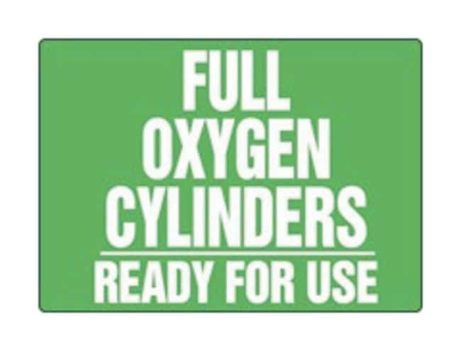 Accuform Signs Full Oxygen Cylinders Ready For Use Aluminum material; 10