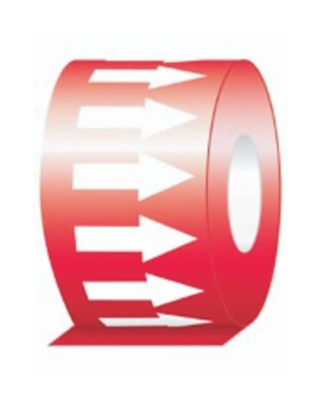 Accuform Signs Directional Flow Arrow Tape Red arrows on white background;