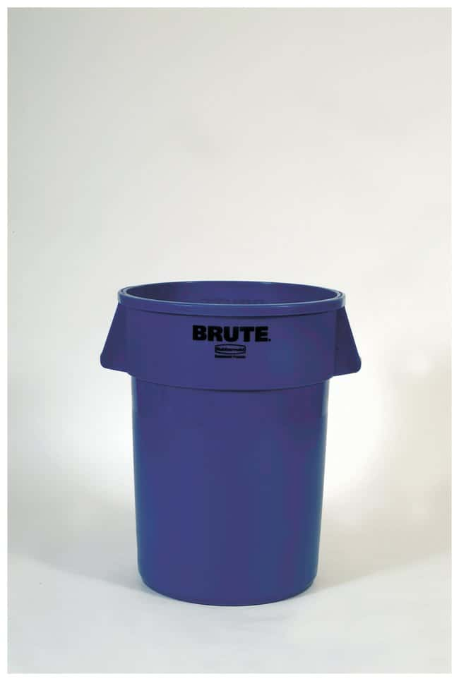 Rubbermaid Round BRUTE Containers Brute Containers, 20 gal.; Dark Blue:Gloves,