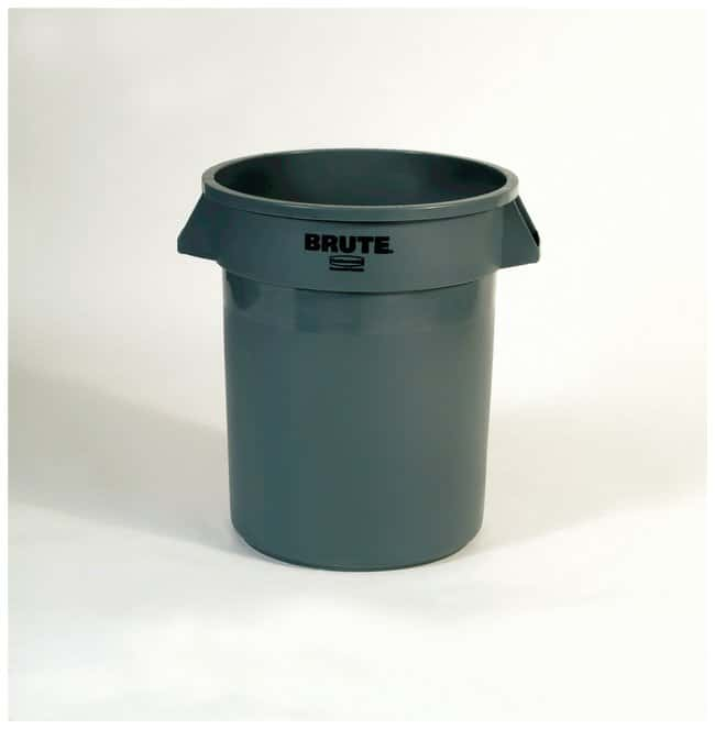 Rubbermaid Round BRUTE Containers Brute Containers, 20 gal.; Gray:Gloves,