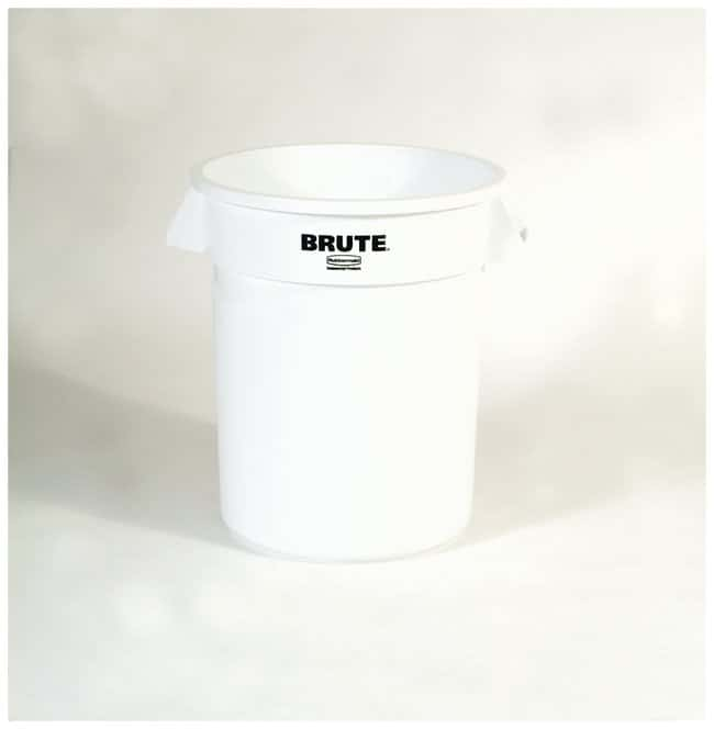 Rubbermaid Round BRUTE Containers Brute Containers, 20 gal.; White:Gloves,