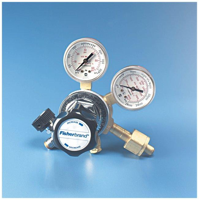 Fisherbrand Multistage Gas Cylinder Regulators For oxygen; Delivery gauge