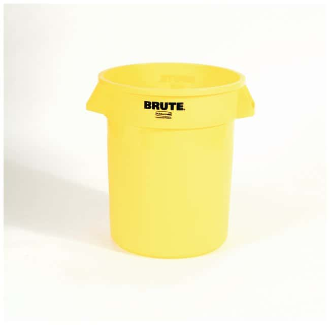 Rubbermaid Round BRUTE Containers Brute Containers, 20 gal.; Yellow:Gloves,