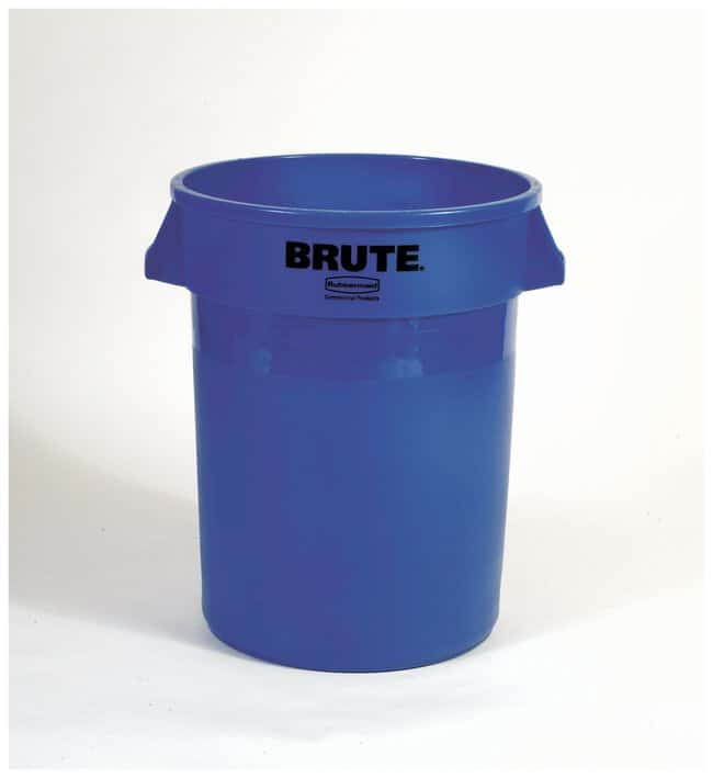 Rubbermaid Round BRUTE Containers:Gloves, Glasses and Safety:Hazardous