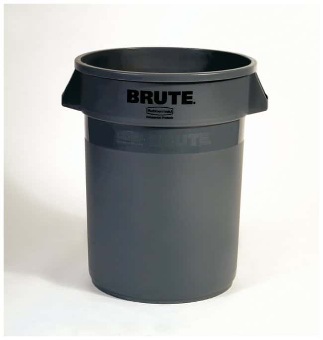 Rubbermaid Round BRUTE Containers Brute Containers, 32 gal.; Gray:Gloves,