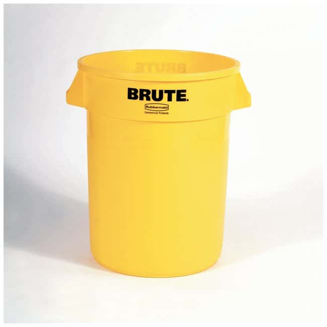 Rubbermaid Round BRUTE Containers Brute Containers, 32 gal.; Yellow:Gloves,