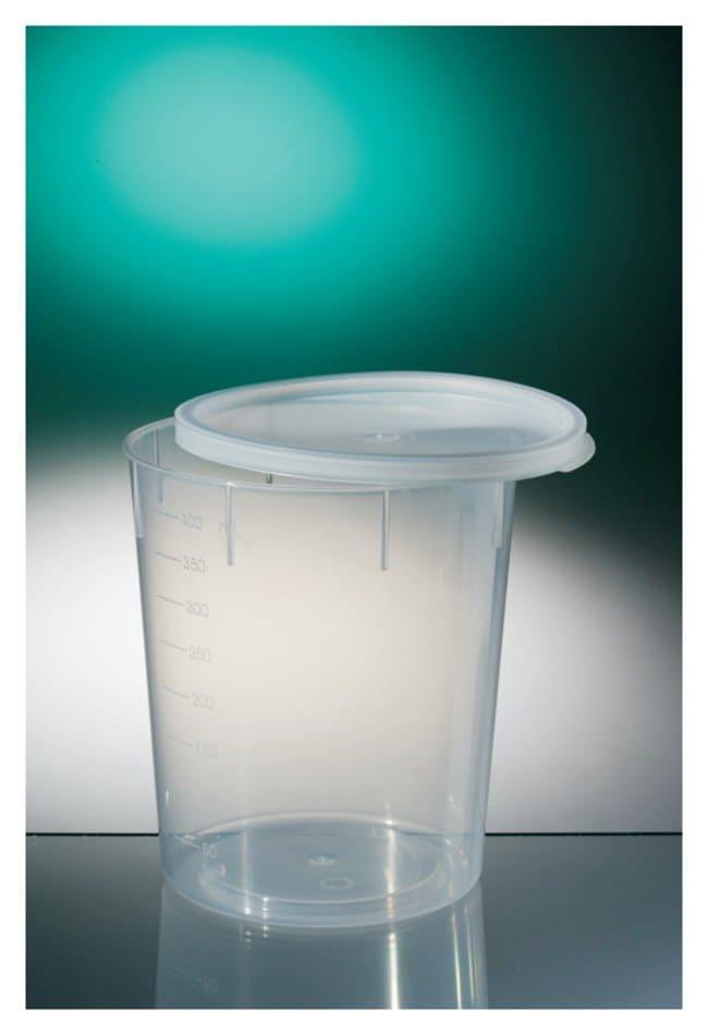 Corning™Gosselin™ sterile, konische Behälter aus Polypropylen Naturfarben; Schnappverschluss; Kapazität: 400ml; Durchmesser 100mm x Höhe 85mm Corning™Gosselin™ sterile, konische Behälter aus Polypropylen