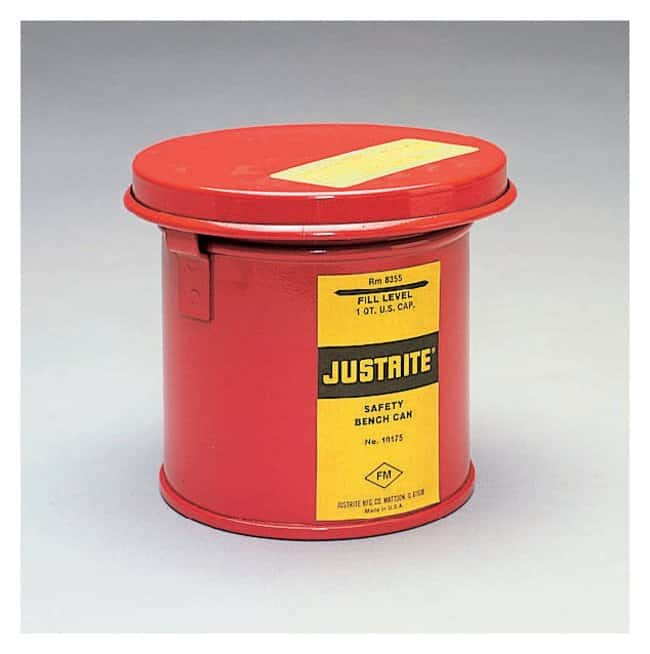 JustriteBench Can for Solvents, Steel Capacity: 0.26 gal. (1L):Facility
