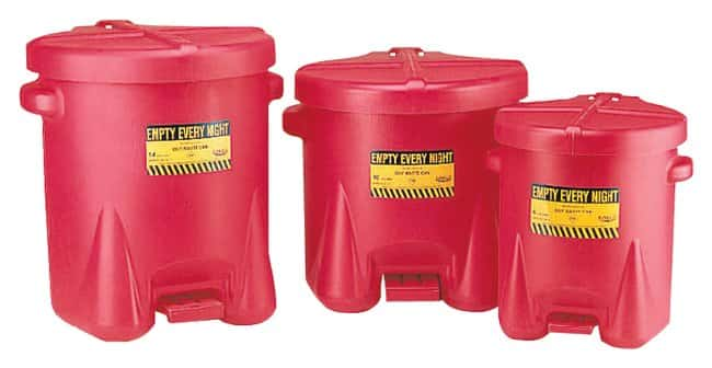 Eagle Polyethylene Oily Waste Cans:Gloves, Glasses and Safety:Hazardous