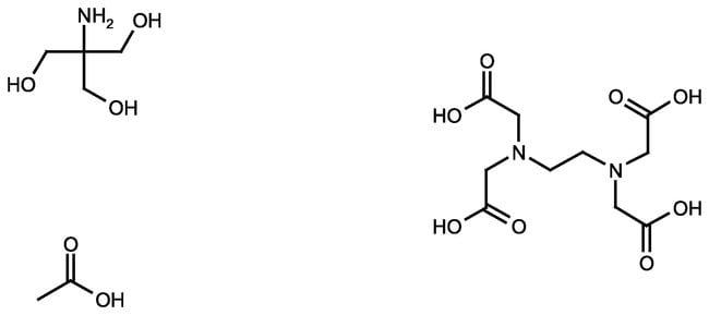 TAE-Puffer, Tris-Acetat-EDTA, 25X-Lösung, Elektrophorese, Fisher BioReagents Nalgene Poly-Flasche; 1l Life Science Puffer
