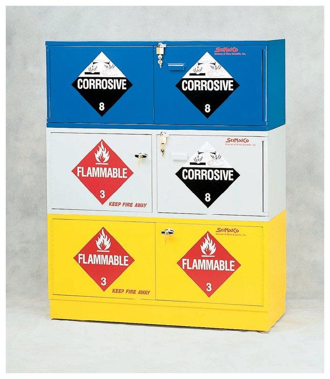 SciMatCo™Stak-a-Cab™ Stackable Corrosives Storage Cabinet