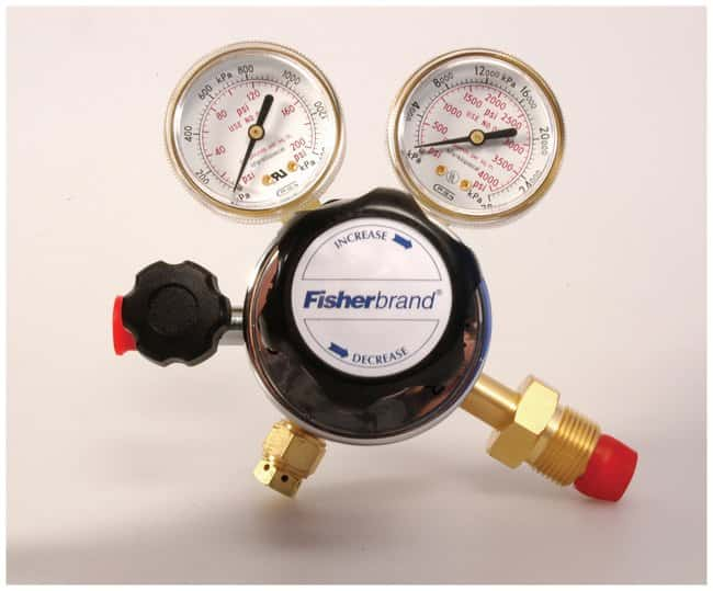 Fisherbrand Heavy-Duty Single-Stage Gas Cylinder  Regulators Nitrous Oxide;