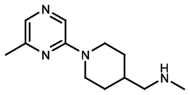 N-Methyl-[1-(6-methylpyrazin-2-yl)piperid-4-yl]methylamine, 90%, Maybridge™ Amber Glass Bottle; 250mg prodotti trovati