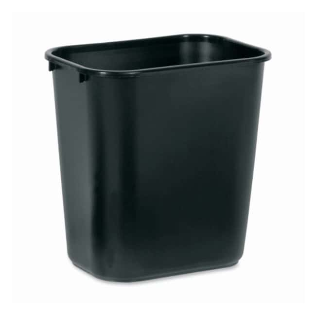 Rubbermaid Deskside Wastebaskets and Tops Black; Medium:Gloves, Glasses