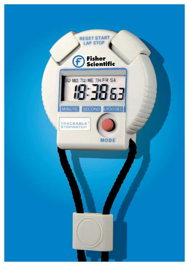 Fisherbrand™Traceable™ 24-Hour Stopwatches: Timers, Clocks, and Stopwatches Thermometers, Timers and pH