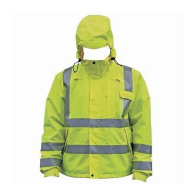 PIP Class 3 Hi-Viz Rain Jacket Size: Large:Gloves, Glasses and Safety