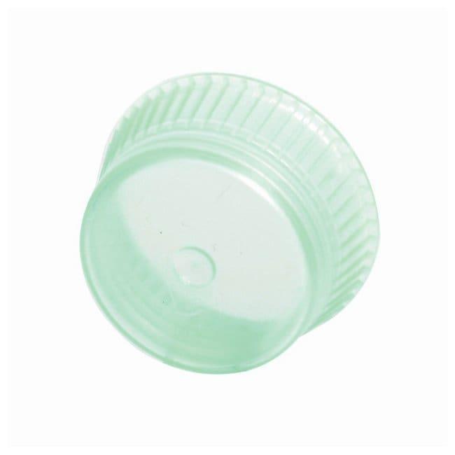 Bio Plas Uni-Flex Safety Caps For 13mm culture tubes; Color: Green:Test