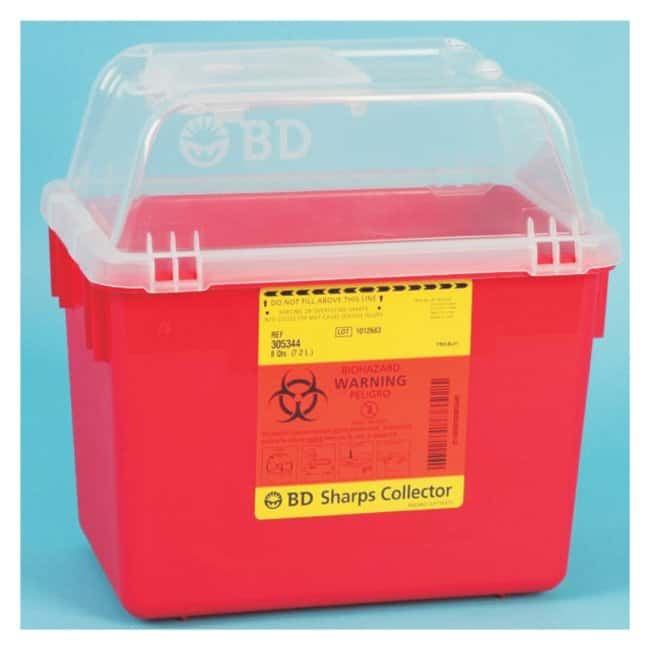 BD Multi-Use Nestable Sharps Collectors Regular funnel; Capacity: 8 qt.;