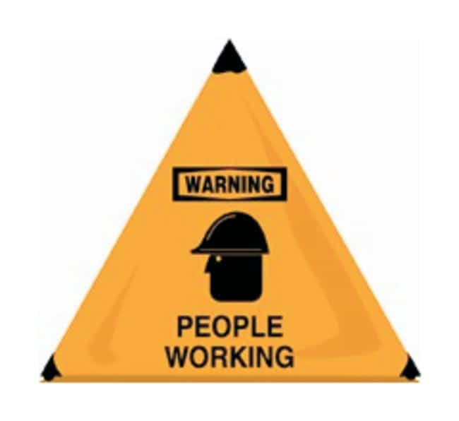 Accuform Signs Handy Cone Floor Signs Legend: Warning. People Working (w/
