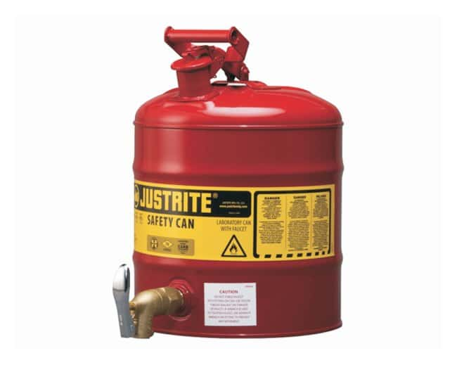 Justrite Dispensing Safety Cans Safety Shelf Can w/tap 08902:Gloves, Glasses