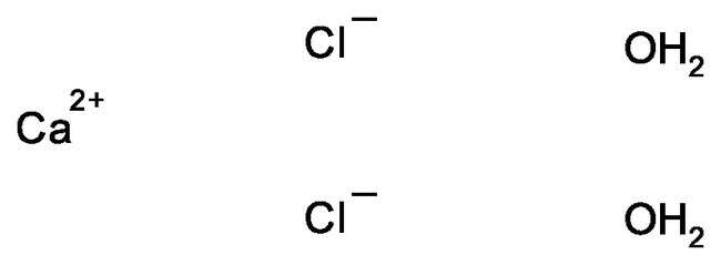 Calcium Chloride Molecular Structure Calcium Chloride Dihyd...