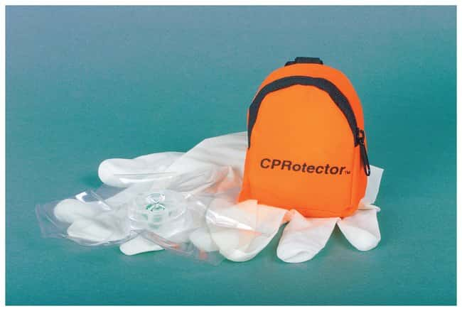 Certified Safety CPRotector Mini-Pouch w/Gloves and antiseptic towelette:First