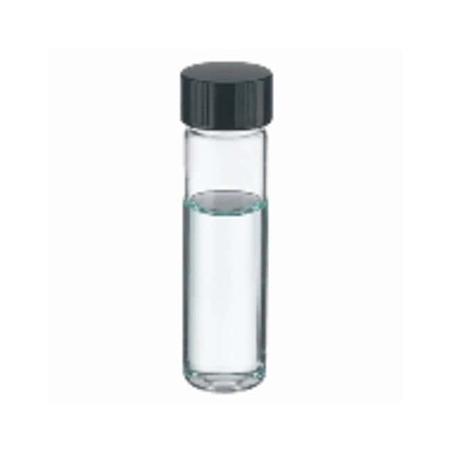 DWK Life Sciences Wheaton™ Clear Glass Sample Vials in Lab File with Caps Attached