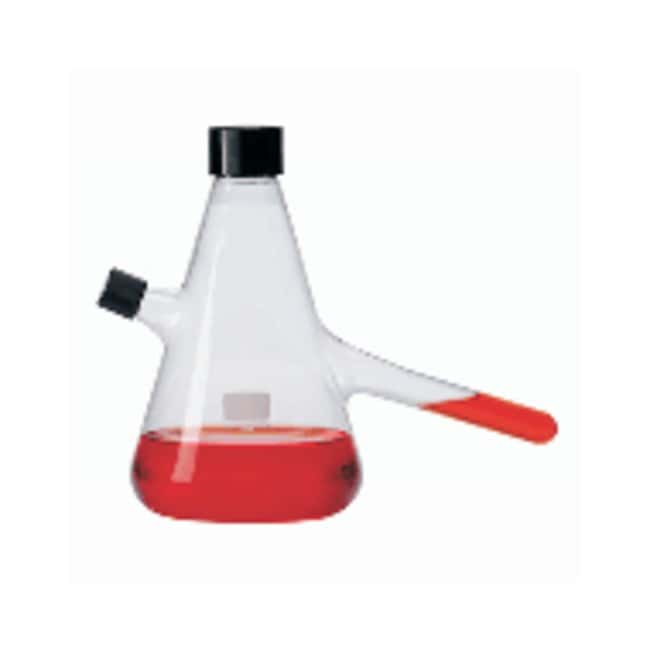 DWK Life Sciences Wheaton Nephelo Culture Flask with Cleanout Port and