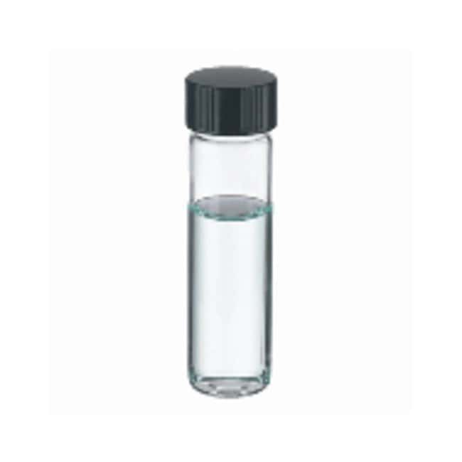 DWK Life Sciences Wheaton™ Clear Glass Sample Vials in Lab File with Caps Attached With caps; 8mL; Clear; PTFE/14B Rubber; 15-425; 17 x 63mm DWK Life Sciences Wheaton™ Clear Glass Sample Vials in Lab File with Caps Attached