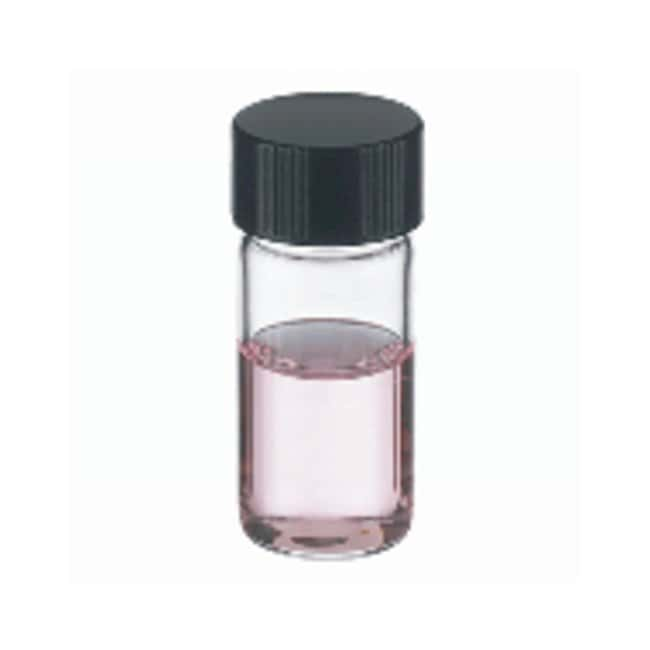 DWK Life Sciences Wheaton™ Shorty Vials™ Glass Sample Vials in Lab File™: with Caps 4mL, Attached caps, PTFE/14B Rubber cap liner, 15-425, 17 x 41mm DWK Life Sciences Wheaton™ Shorty Vials™ Glass Sample Vials in Lab File™: with Caps