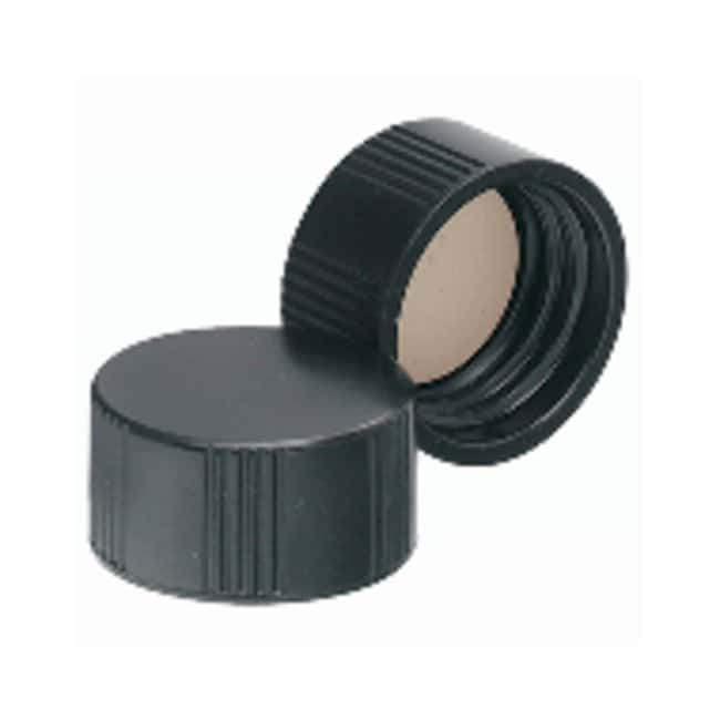DWK Life SciencesWheaton™ Black Phenolic Screw Caps with PTFE faced 14B Rubber Liners for E-Z Ex-Traction™ Vials Fits 8mL vials; Cap size: 15mm-425; 1000/Cs. Products