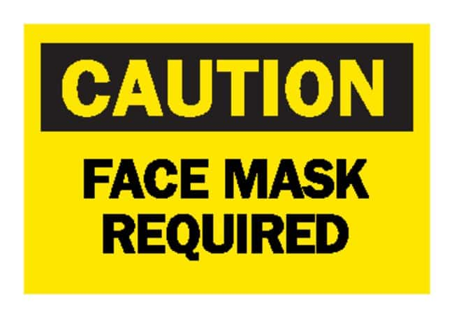 BradyCaution: Face Mask Required Signs:Facility Safety and Maintenance:Signs