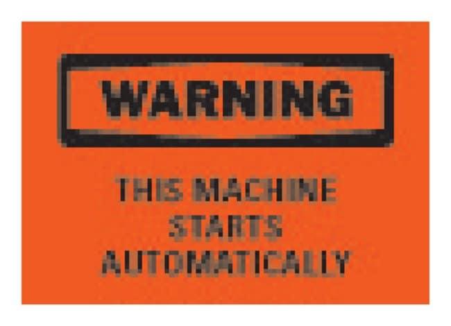 "Brady™""Warning: This Machine Starts Automatically"" Signs"