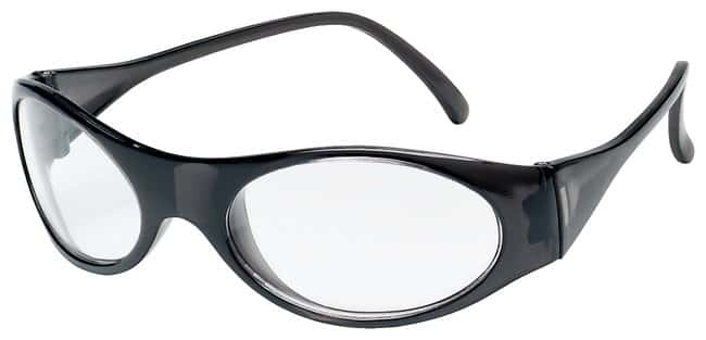 MCR Safety Crews Frostbite Safety Glasses Black frame; Lens tint: clear:Gloves,