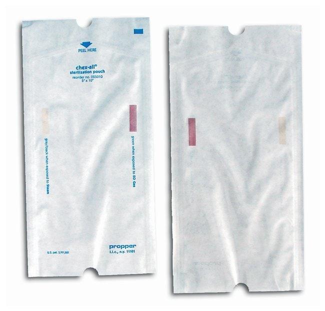 Propper Chex-All Sterilization Pouches Heat seal; 5 x 10 in.:Gloves, Glasses