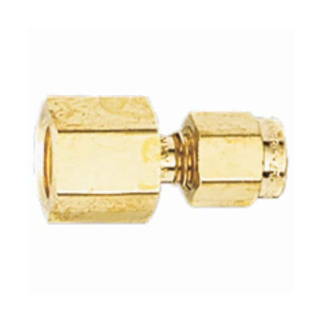 Restek™Tube and Pipe Fittings for GC Equipment Brass Female Connector Fitting; 1/4 in. to 1/8 in. NPT; Pack of 5 Restek™Tube and Pipe Fittings for GC Equipment
