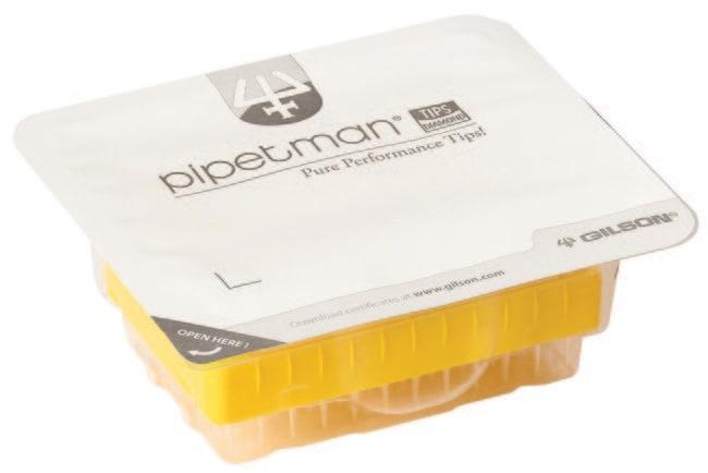 Gilson™PIPETMAN™ Diamond Blister Pack Refill Pipette Tips Gamma-ray sterilized; Filter tips; Volume range: 20 to 200μL Gilson™PIPETMAN™ Diamond Blister Pack Refill Pipette Tips