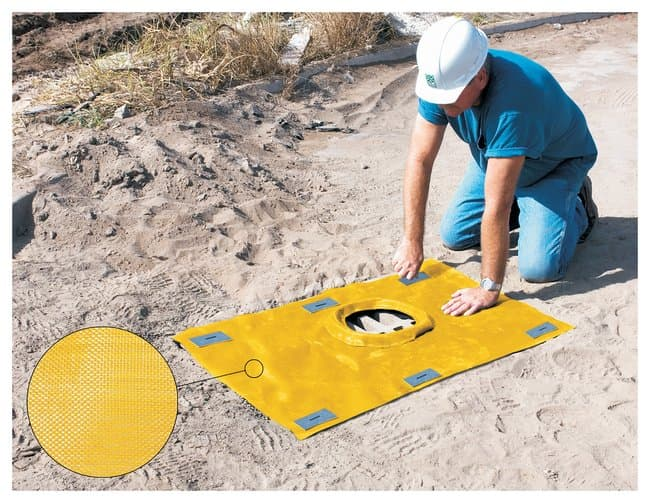 Youngstown Barrel  Guard, Grate, Polypropylene, 48 x 59 in.:Gloves, Glasses