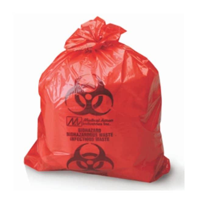 MedegenBiohazardous Waste Bags, LLDPE Film, Flat Pack Meets ASTM Dart Test