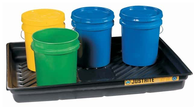 Justrite EcoPolyBlend Spill Tray Sump capac.: 29 gal. (109L):Gloves, Glasses