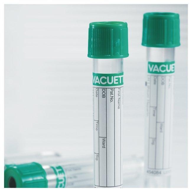 Greiner Bio-One™Tubos de plasma con heparina Tapón de seguridad de giro; 9ml Greiner Bio-One™Tubos de plasma con heparina
