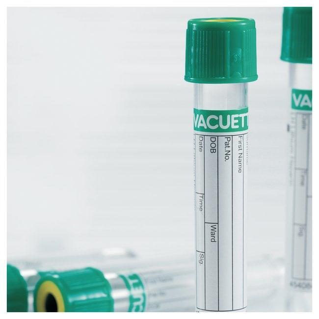 Greiner Bio-One™Tubes plasma avec héparine de lithium et gel Volume de remplissage: 8ml; bouchon à tirer; taille: 16x100mm Greiner Bio-One™Tubes plasma avec héparine de lithium et gel