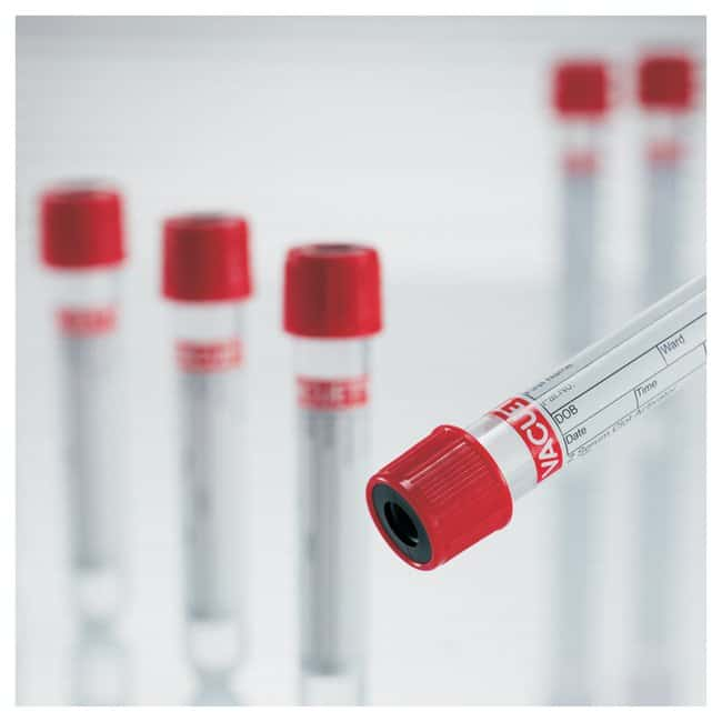 Greiner Bio-One Tubos activadores de la coagulación para suero With Clot Activator; 16 x 100mm; Cap: Red with black ring; Closure: Non-ridged pull cap; Volume: 9mL Greiner Bio-One Tubos activadores de la coagulación para suero