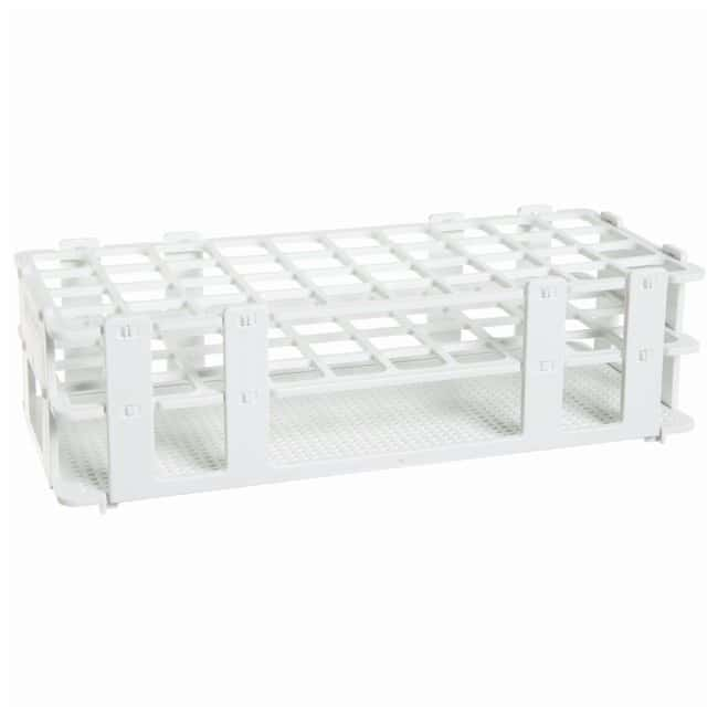 Bel-Art SP Scienceware No-Wire Autoclavable Test Tube Racks White; 16-20mm