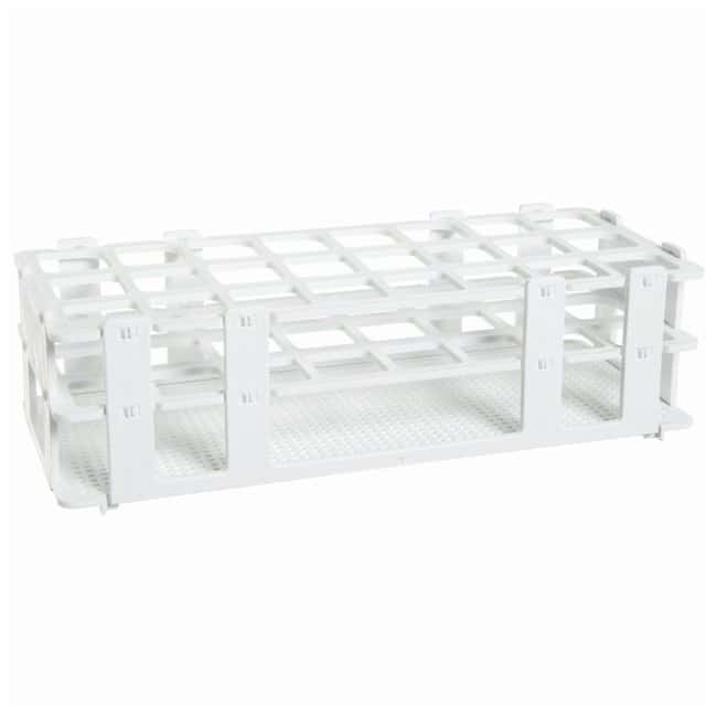 Bel-Art SP Scienceware No-Wire Autoclavable Test Tube Racks White; 20-25mm